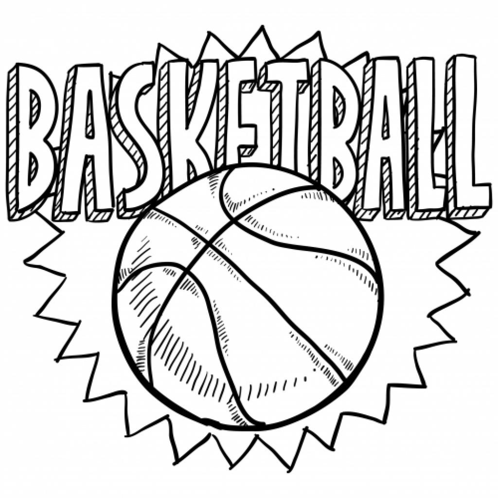 1024x1024 Coloring Pages Basketball Coloring Page Fun