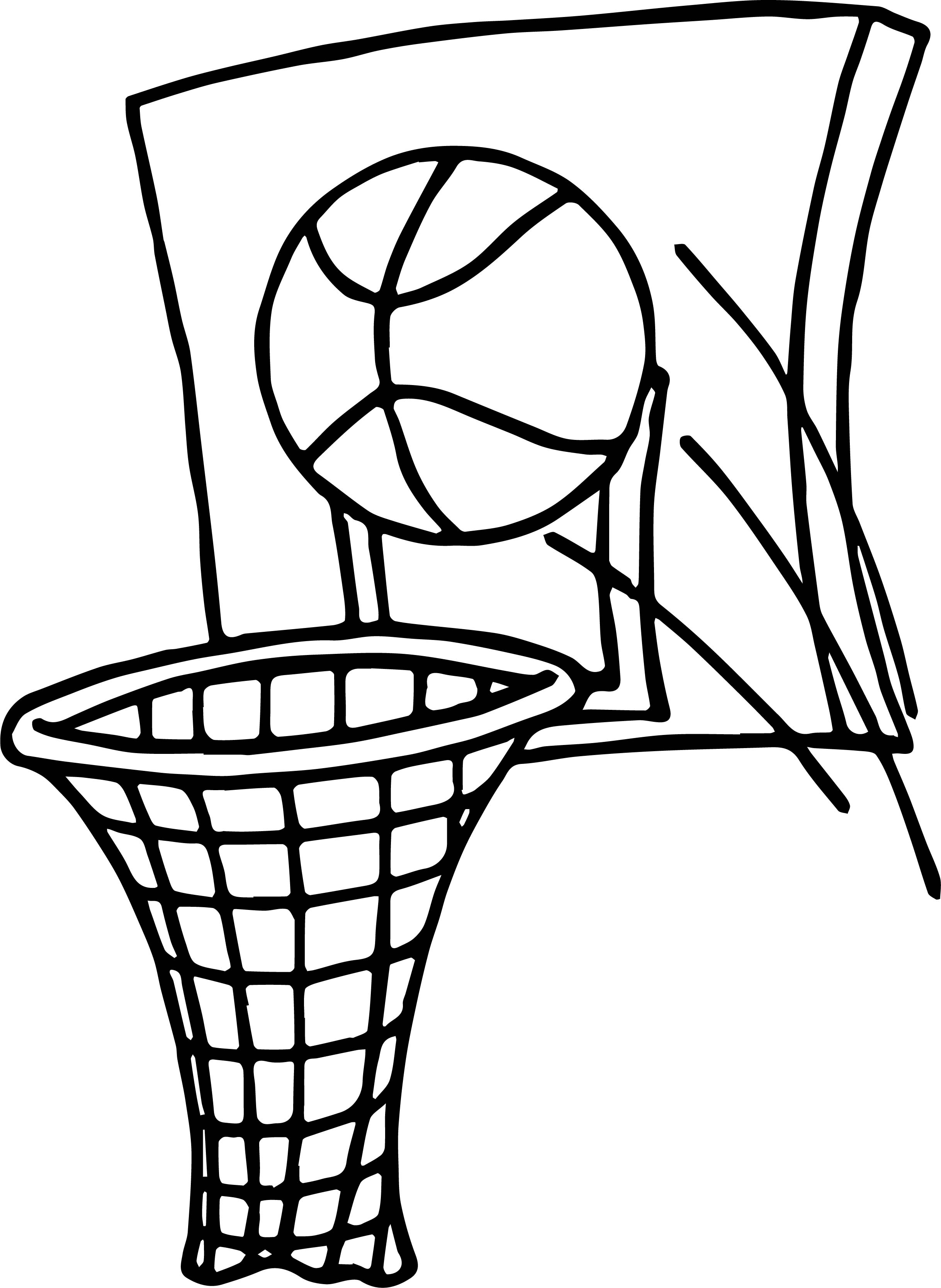 2436x3335 Ball Shot Playing Basketball Coloring Page Wecoloringpage
