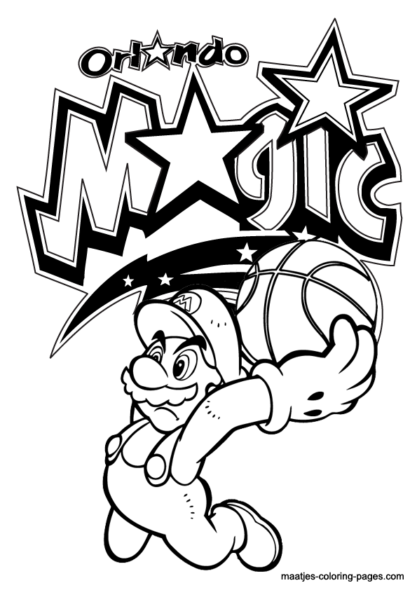 595x842 Mario Basketball Coloring Pages