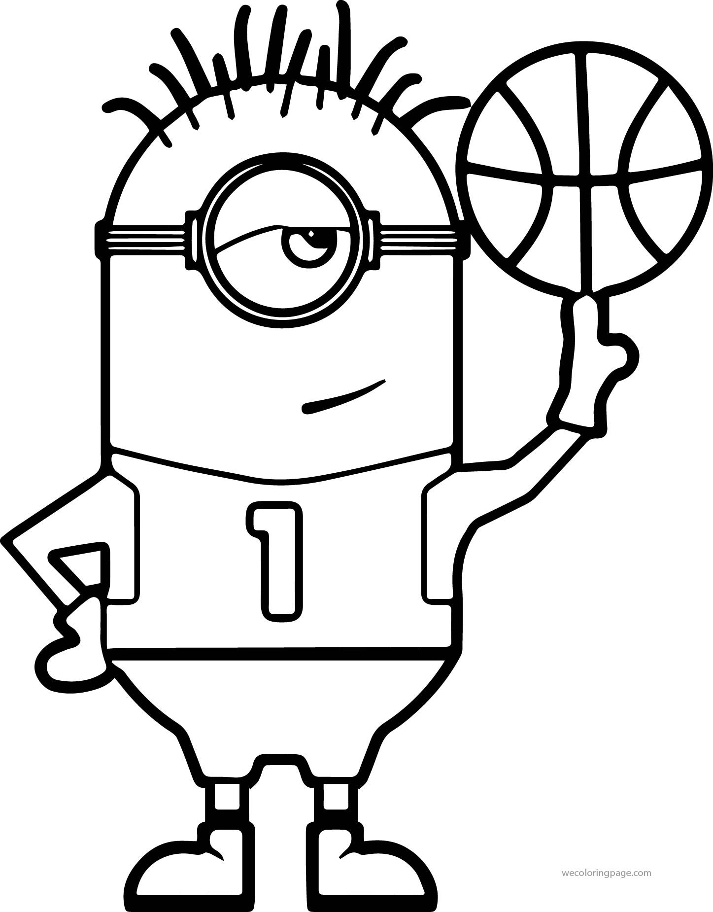 1447x1850 Minion Turn Basketball Coloring Page Wecoloringpage