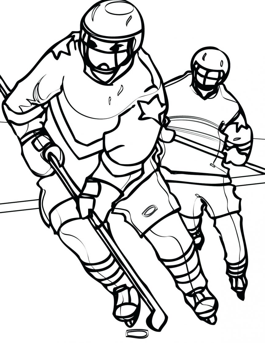 863x1117 Playing Hockey Coloring Pages Nba Basketball Online Pdf Basketball