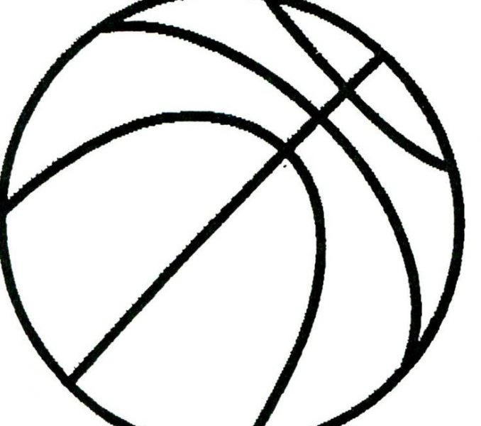 678x600 Printable Basketball Pictures Coloring