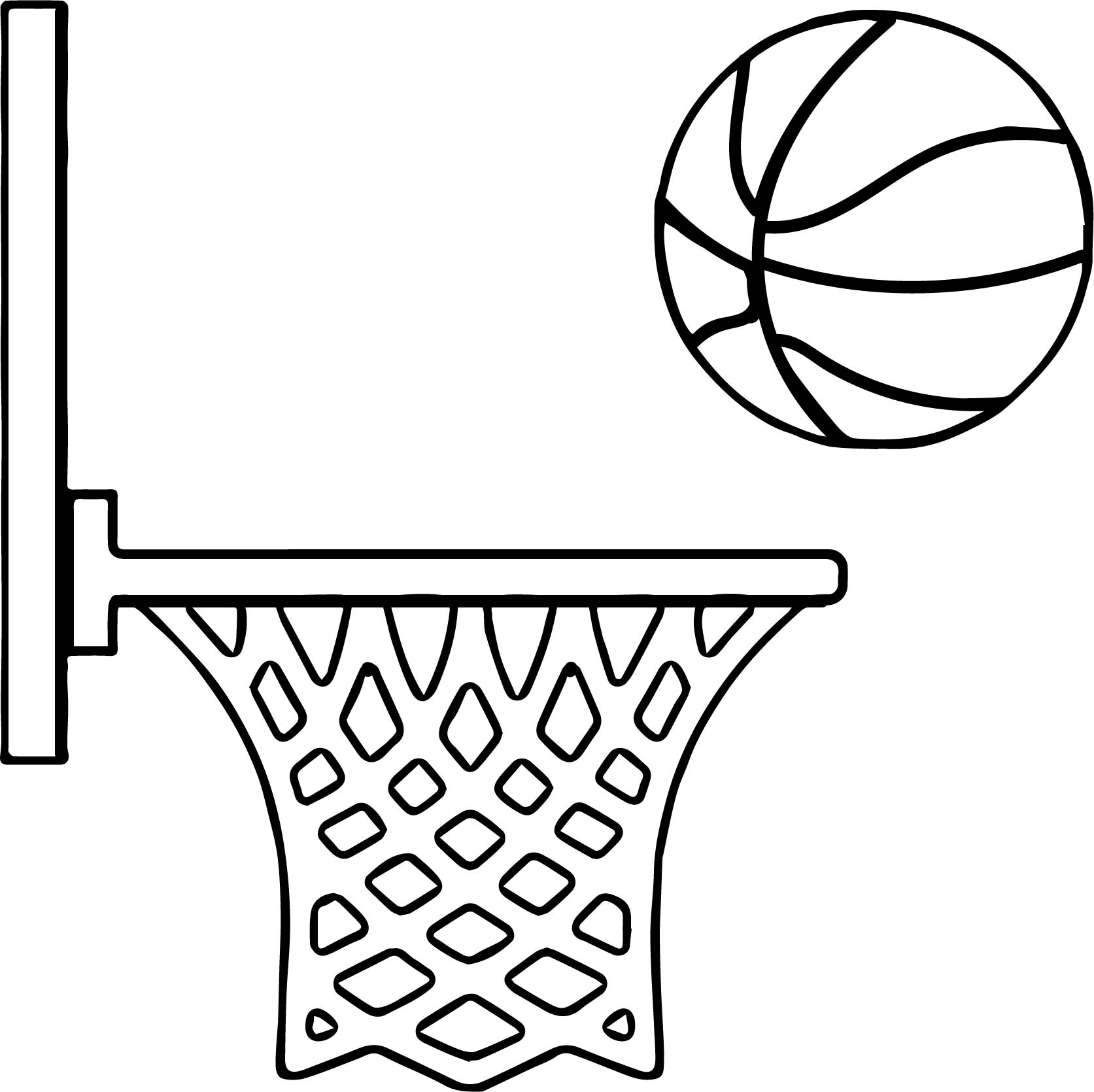 1673x1670 Side Playing Basketball Coloring Page Wecoloringpage