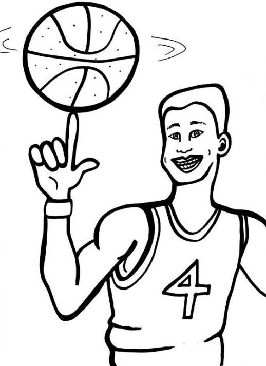 518x713 Sport Coloring Pages Basketball Coloring Pages Of Basketball