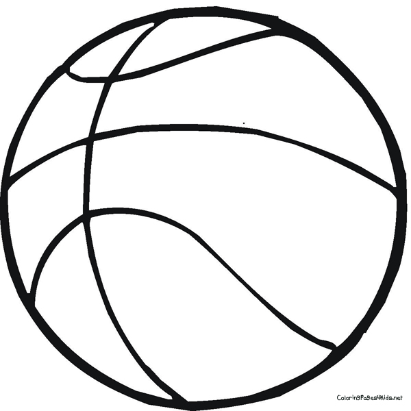 600x600 Ball for Basketball Coloring Pages