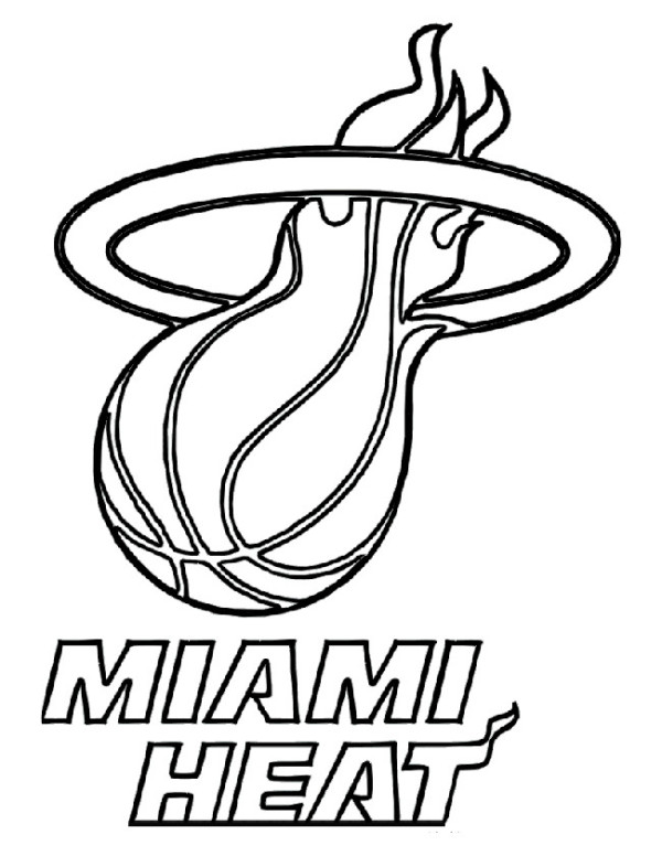 600x776 Miami Heat Coloring Pages Murderthestout