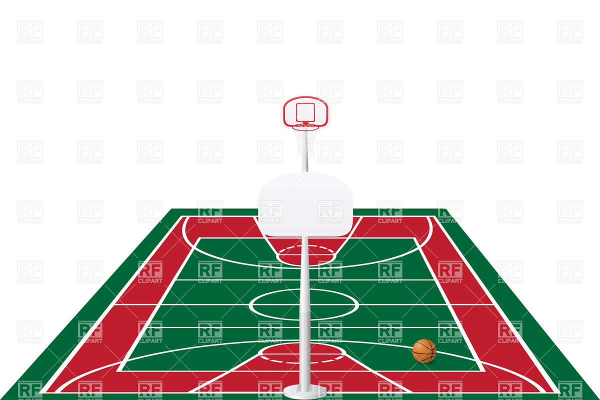 1200x800 Basketball Court In Perspective View Royalty Free Vector Clip Art
