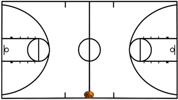 570x321 Basketball Court Clipart Black And White