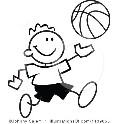 400x420 Basketball Clipart Free Black And White