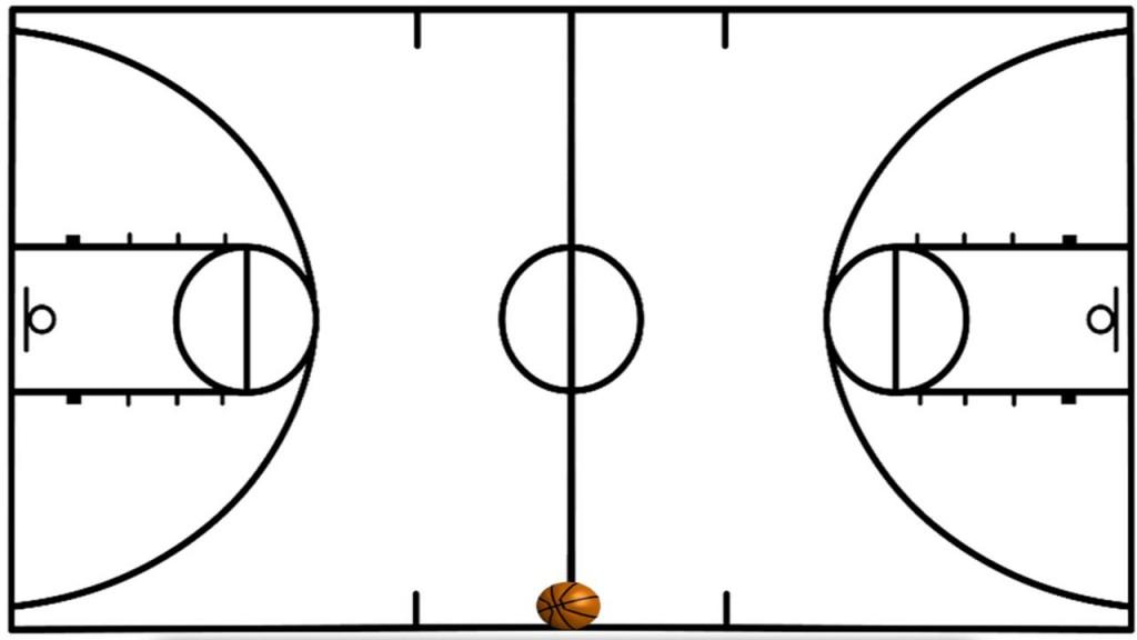 1024x576 Basketball Court Clipart