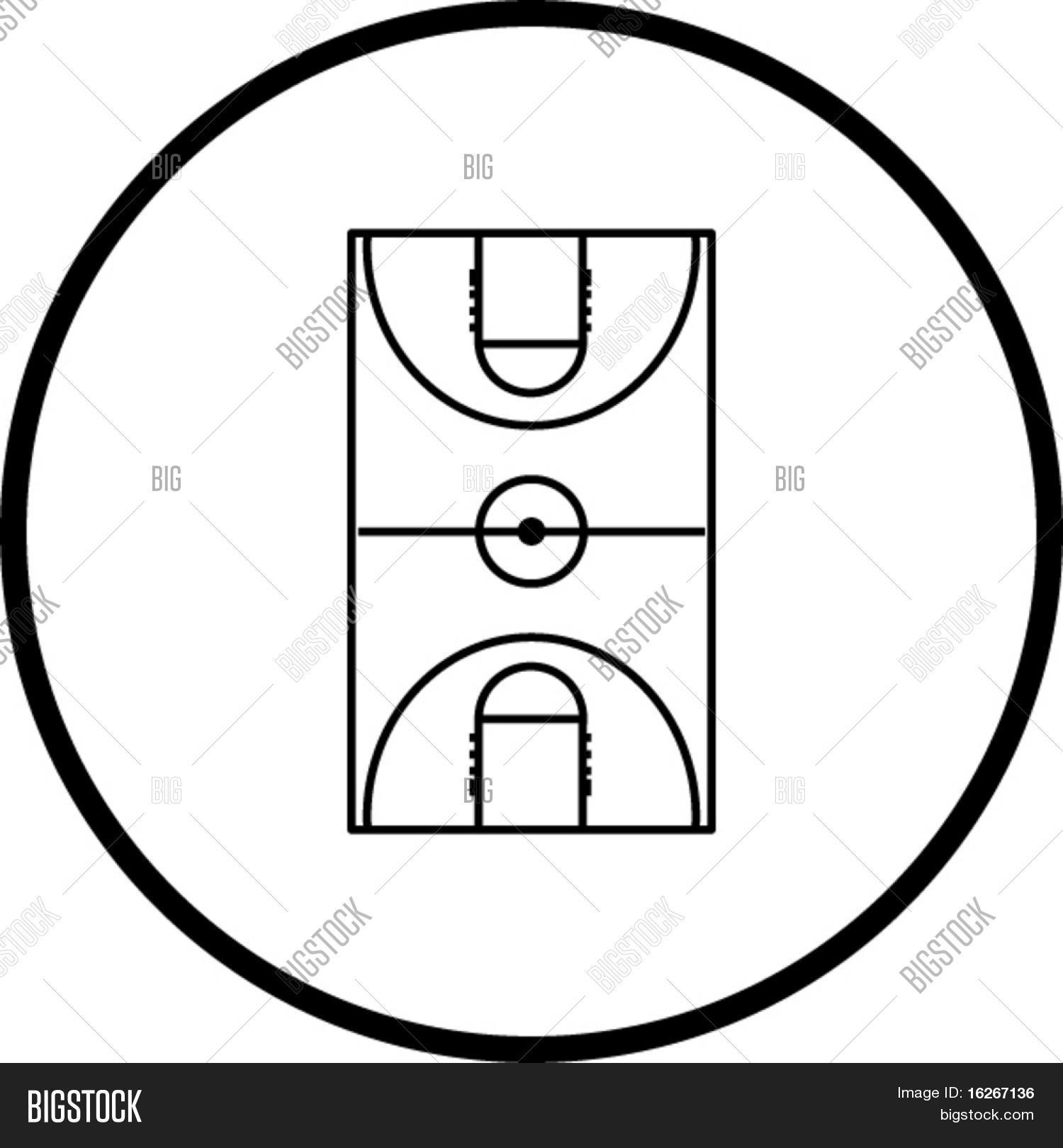 1500x1620 Basketball Court Symbol Vector Amp Photo Bigstock