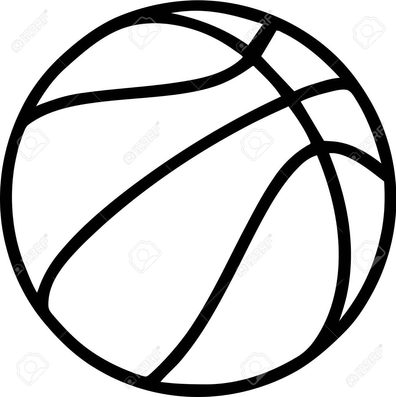 1297x1300 Best Hd Basketball Outline On White Background Stock Vector Image