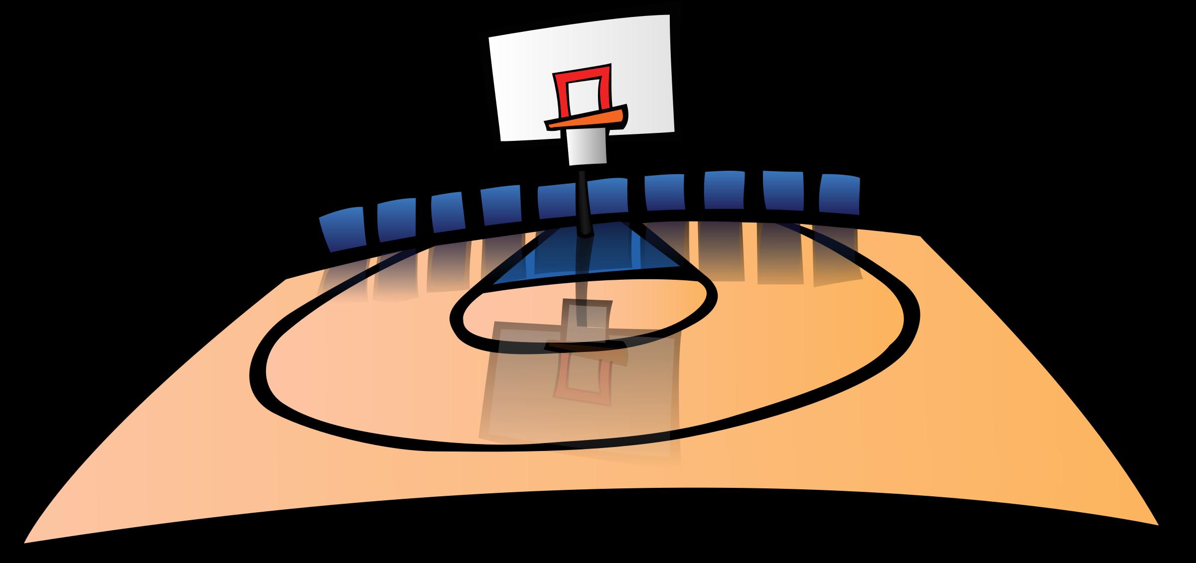 2400x1131 Clipart Basketball Court