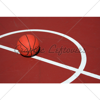 325x325 Basketball On A Court Gl Stock Images
