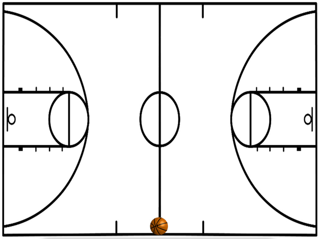 1024x768 Basketball Court Diagram Site Cliparts