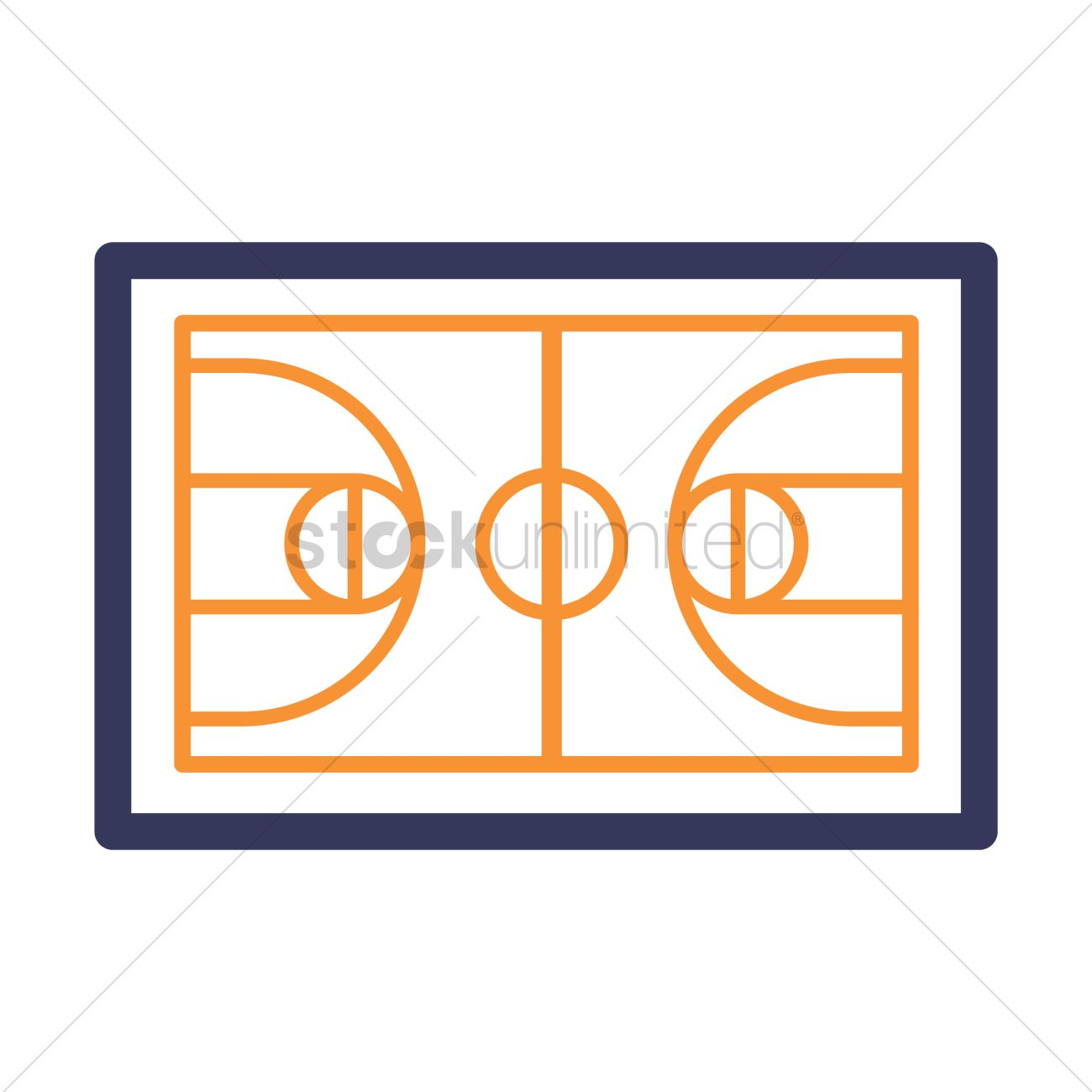 1300x1300 Basketball Court Icon Vector Image