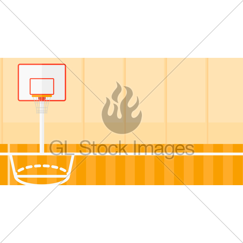 500x500 Background Of Basketball Court. Gl Stock Images