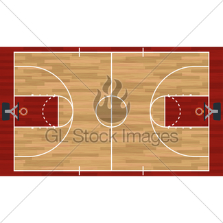 325x325 Realistic Vertical Basketball Court Illustration Gl Stock Images