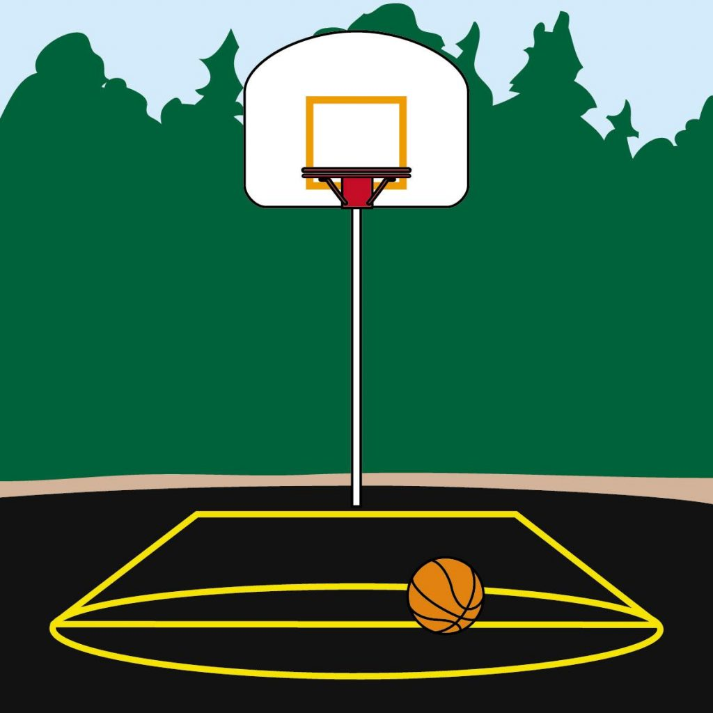 1024x1024 Top 10 Basketball Court Clipart Pictures