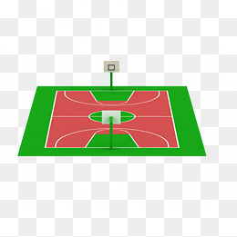 260x261 Red Green Square Fencing Basketball Court, Red Green Plastic