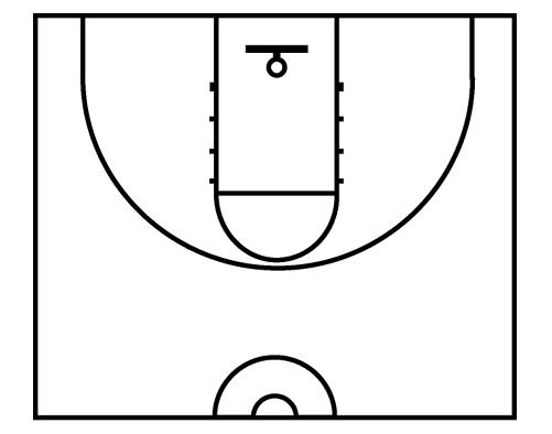 501x394 Template For Basketball Court Download Half Basketball Court