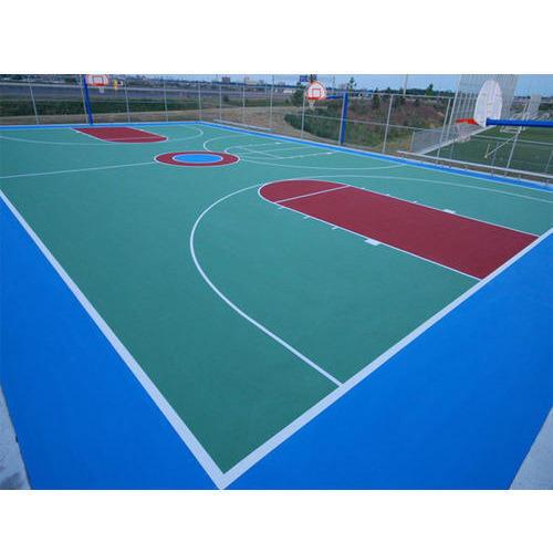 500x500 Basketball Court Flooring