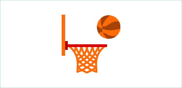 620x300 Basketball Court Side View Clipart
