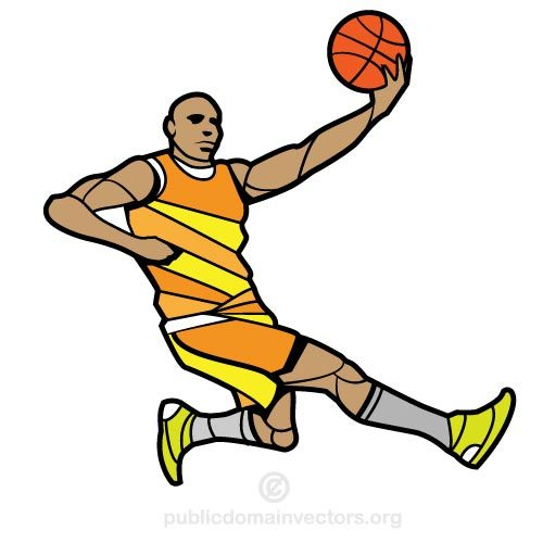 500x500 Basketball Player Vector Image Public Domain Vectors