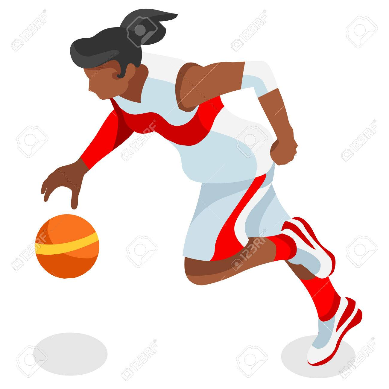 1300x1300 Basketball Player Athlete Summer Games Icon Set.3d Isometric