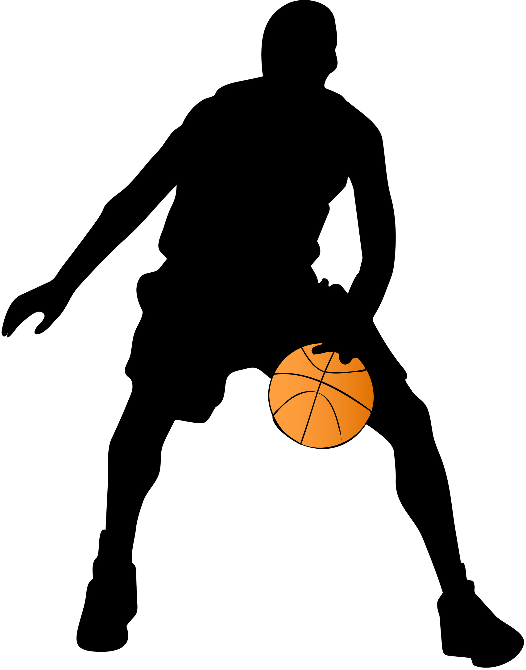 1705x2170 Basketball Silhouette Clipart