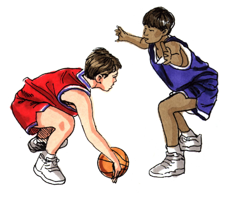 1500x1327 Kids Playing Basketball Clipart