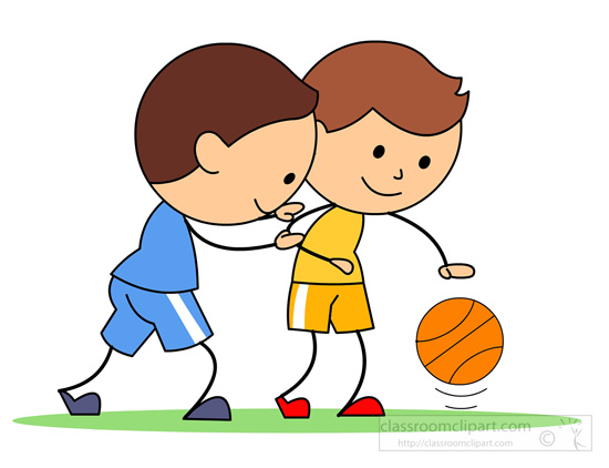550x422 Playing Basketball Clipart