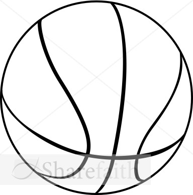 384x388 Black And White Basketball Clipart Collection