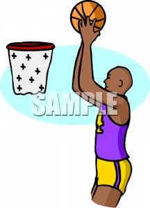 216x300 Black Basketball Player Shooting Hoops Clipart Picture