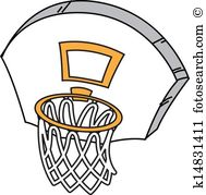 189x179 Basket Clipart Basketball Goal