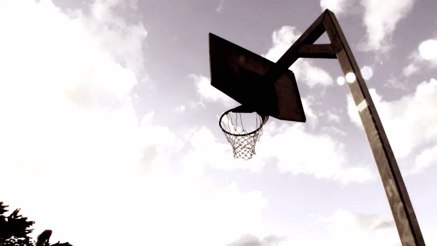 852x480 Basketball Going Through The Basket Stock Footage Video 17442040