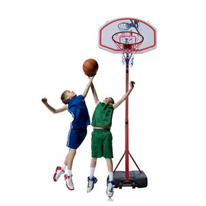 300x300 Adjustable 8.5ft Basketball Hoop System Stand Net Goal W Wheels
