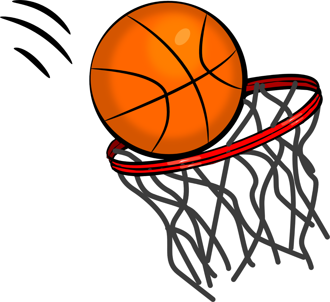1359x1245 Basketball Net Clipart