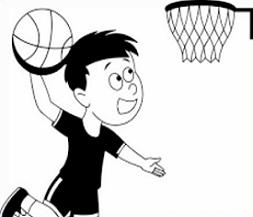 253x217 Free Basketball Hoops Clipart
