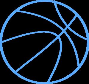 299x282 Basketball Outline Clip Art