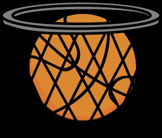 331x282 Basketball In Net Clip Art