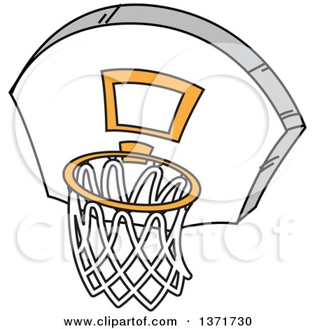 450x470 Clipart Illustration Of A Man Running Forward With A Basketball By