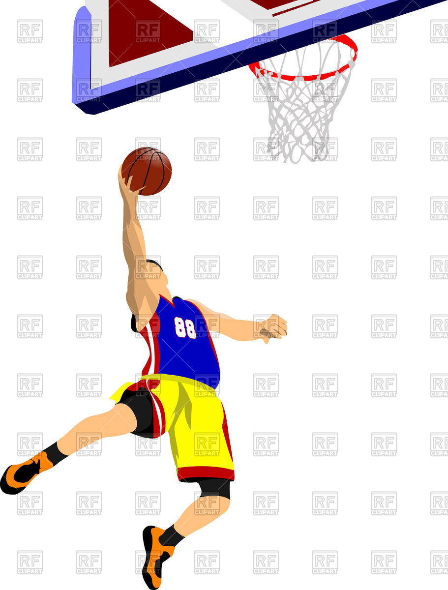 911x1200 Silhouette Of Basketball Player In Jumping And Basket Royalty Free