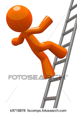 321x470 Stock Illustration Of Orange Man Falling From Ladder Accident
