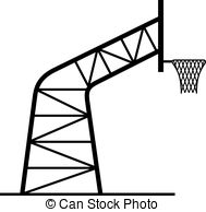 189x194 Basketball Net With Stand Clipart
