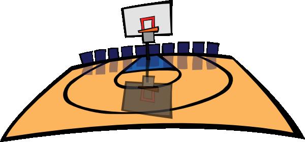 600x280 Basketball Court Clipart