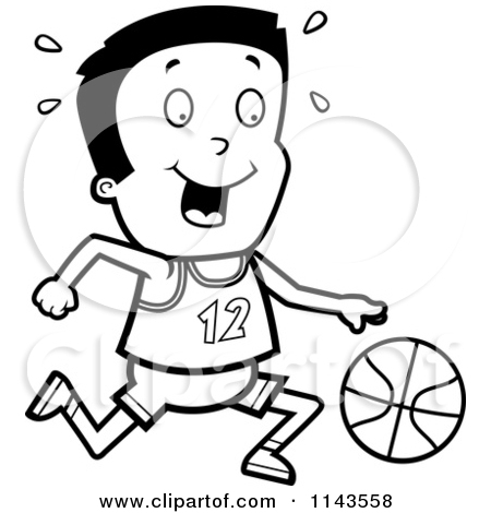 450x470 Black White Basketball Court Clipart