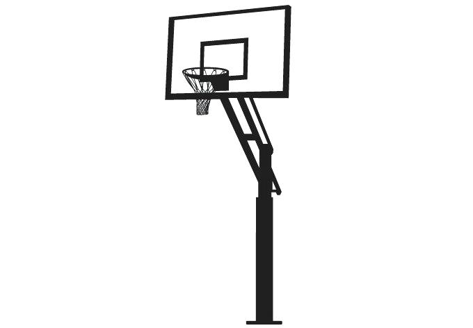 680x472 Clipart Basketball Basketball Black And White Free Black And White