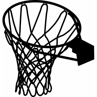 Basketball Hoop Clipart Black And White | Free download ...