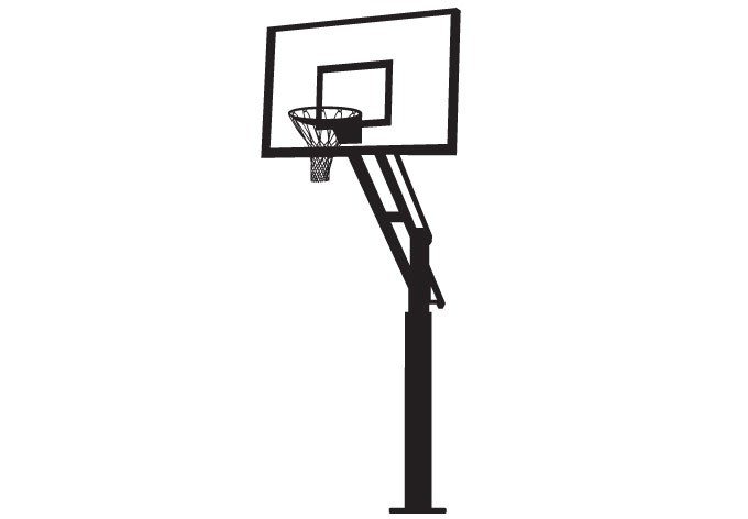 680x472 Black And White Basketball Hoop Clipart Collection